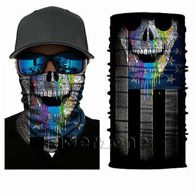 Colorful StealthTech Verduous Skull Face Shield Fishing Sun Mask Balaclava