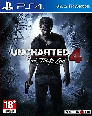 PS4 Game Uncharted 4:A Thief's End HK Chinese/English subtitle Version Brand New