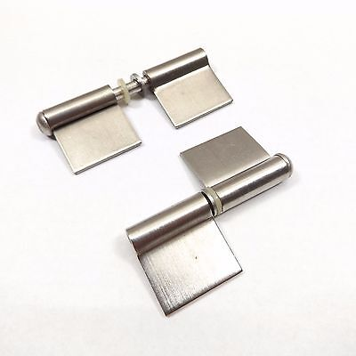 "Lot Of 2 Kason 67307000004 Lift-Off Flag Hinge 2-1/8"" Stainless Steel"