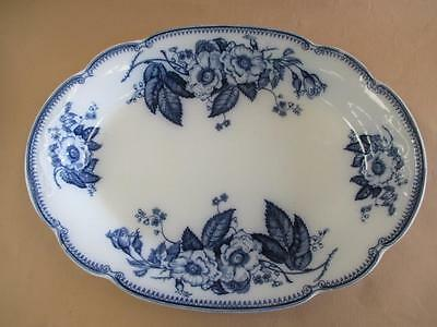 Charger, Meat Platter, Blue and White, JG Meakin, Emperor, Antique