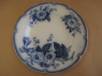 Dinner Plate, Small, Blue and White, JG Meakin, Emperor, Antique