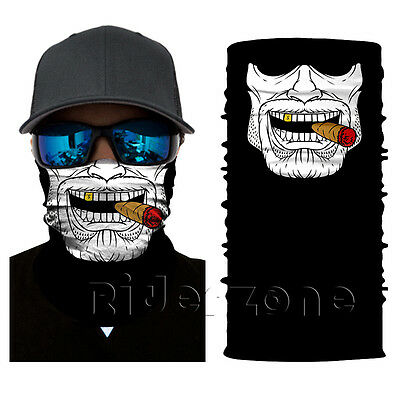New Gangster Face Shield Sun Mask Balaclava Neck Gaiter Neckerchief Buff