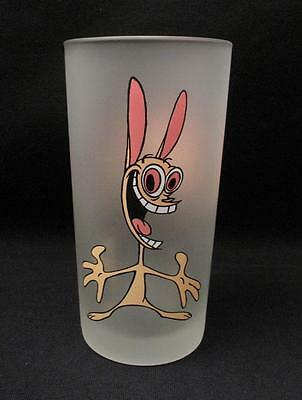 Monkeys Of Melbourne Ren & Stimpy Frosted Glass Nickelodeon Cartoon