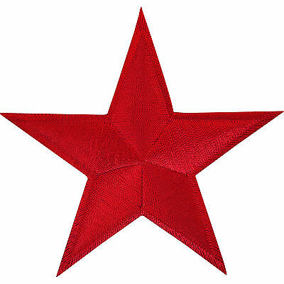 Red Star Iron On Patch Sew On Badge Jeans T Shirt Crafts Embroidered Applique