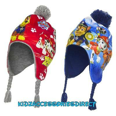 Official Boys Paw Patrol Hat Warm Winter Bobble Trapper Hat Free P&P
