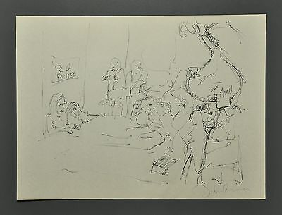 John Lennon & Yoko Ono 1970 Bag One Signed Lithograph 51x37cm Bed in for Peace