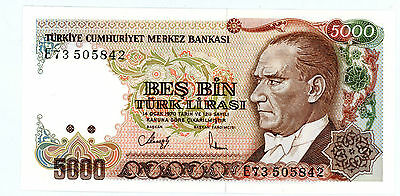 Turkey … P-197 … 5000 Lirasi … L.1970(1985) … *UNC*