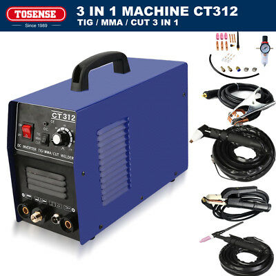 120A 3IN1 ARC Digital TIG/MMA Welding Machine 30A Plasma Cutter All Accessories