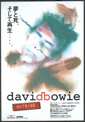 1995 David Bowie Outside JAPAN arista records ad / mini poster advert db010r