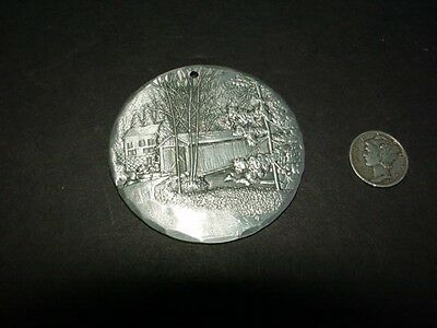 McCONNELL'S MILL - Wendell August Christmas ornament - Butler PA -covered bridge