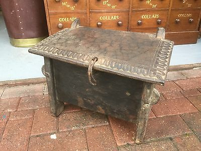 A Small Antique Wooden Chest. Open To Offers.