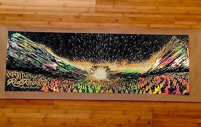 Red Rocks Venue Art Poster Eads - RAINBOW FOIL - Dave Matthews Band Inspired
