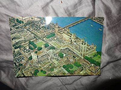Aerial View Westminster Abbey Parliament -Arthur Dixon London  Postcard   N/s