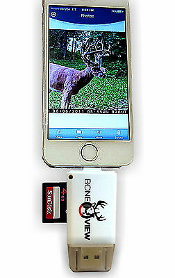 BoneView SD Card Reader for Apple/iPhone/iPad (micro 8 pin lightning connector)