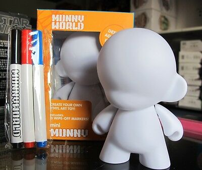Kidrobot Reusable Munny White With Wipe-Off Markers 4-Inch