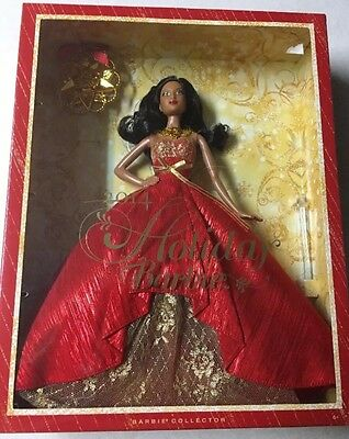 NEW Barbie 2014 Holiday Doll with Ornament, African American , Christmas