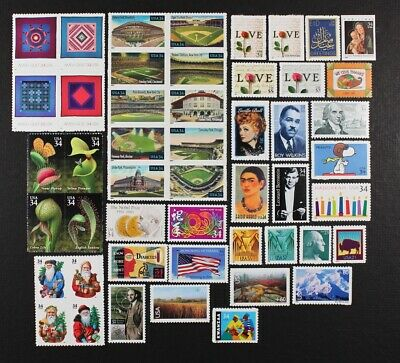US 2001 Commemorative Year Set of 96 stamps incl. 4 Sheets Mint NH, see scans