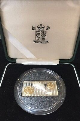 Malta 5  2000 Silver proof  ancient coin designs gold plated Millennium
