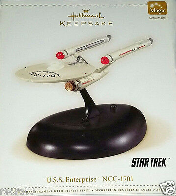 2006 Hallmark Christmas Ornaments USS Enterprise NCC-1701 Star Trek