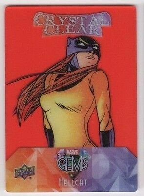 2016 Upper Deck Marvel Gems Crystal Clear CC-20 Hellcat red parallel