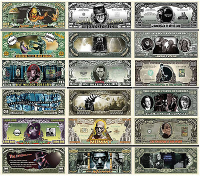 Complete Set Of 9 Classic Horror Movies Million Dollar Bills Free Shipping