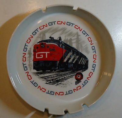 "Grand Trunk - CN  Railroad 1970 Ceramic Ashtray -  7"" diameter"
