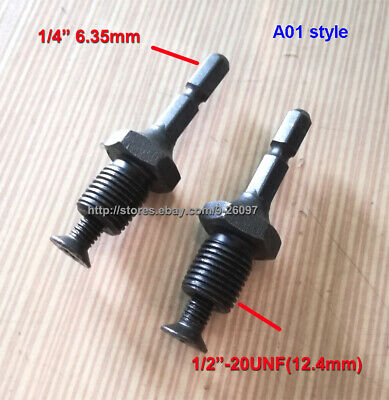 """1/4(6.3mm) Hex Adapter to 1/2""""-20UNF Thread with Lock Screw to Drill Chuck L0024"""
