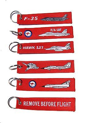 RAAF Fast Jet Remove Before Flight Key Tag Luggage Tag Key Ring Value Pack