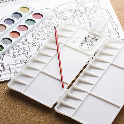 Art Paint Tray Artist Watercolor Plastic Palette White Portable 25cell New Home