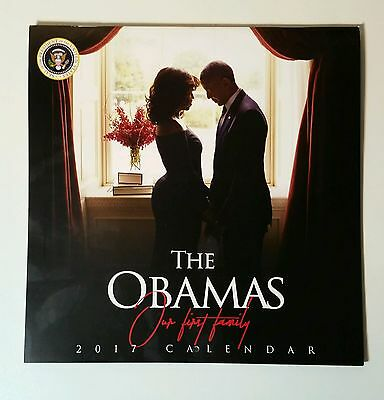2017 President Barack Obama Commemorative Farewell Calendar w/ Daily Black Facts