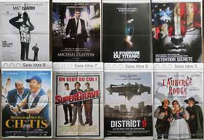 LOT 16 AFFICHES CINEMA 40x60 CM - FILM DIVERS  -
