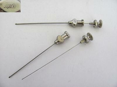 Ww2 German Medical Set Of Two Puncture Lumbar Spinal Needles