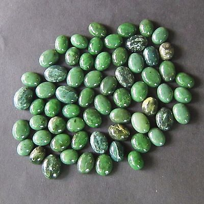 63 Pieces 1,305 Cts Natural Amazing Cab Nephrite Jade Lot + Gift 50 Rough