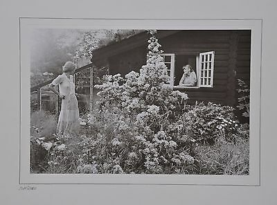 David Hamilton Limited Edition Photo 38x30 The house in Liselund Girls Nude B&W