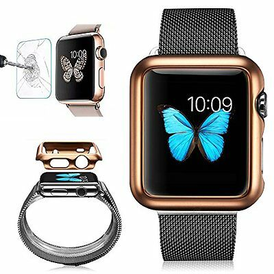 ROSE GOLD Cover Case Bumper + Screen Protector For iWatch 38MM APPLE WATCH 1