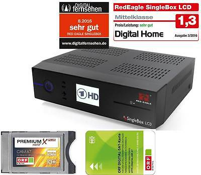 Red Eagle SingleBox LCD E2 Linux Sat Receiver + CI+ ORF Karte HD