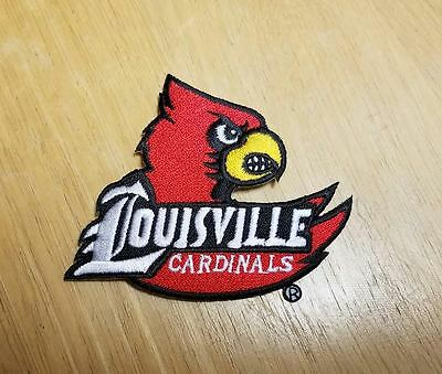 Louisville Cardinals Embroidered Iron-On Logo Patch
