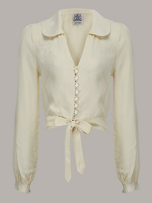 1940's Vintage Inspired 'Cream Clarice' Blouse by The Seamstress of Bloomsbury