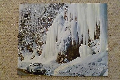 1964 Porsche 356 B Hardtop Showroom Advertising Poster RARE!! Awesome L@@K