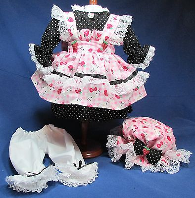 Handmade Four Piece Hello Kitty Raggedy Ann Outfit – New – 18 - 20 Inch