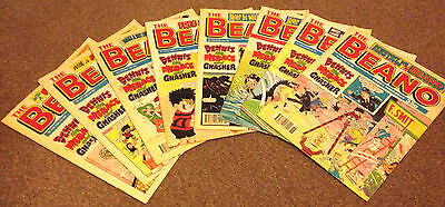 10x 1990's BEANO COMICS *Deals Available for Mulitple Purchases* FREE UK POSTAGE