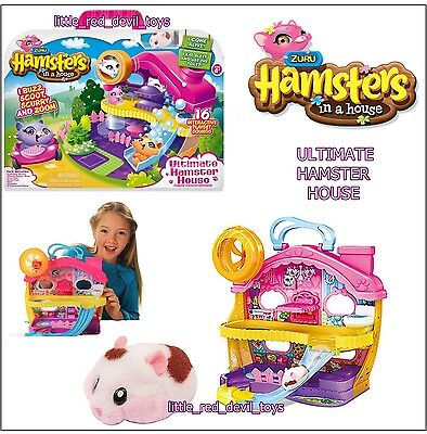 NEW Hamsters in a House ULTIMATE HOUSE PLAYSET Zuru Toys Hotspots Interactive