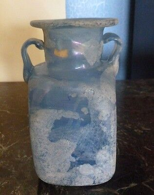 Wonderful Example Of  A Roman Glass Vessel With Two Handles Ex Ferrari Estate