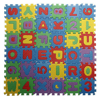 Baby Colorful EVA Foam Mat Alphabet Letters Numbers  Jigsaw Puzzle