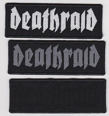 """Deathraid -  Embroidered Patch 4½ x 1½"""" (Various colors) Crust Hardcore Punk"""