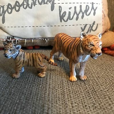 SCHLEICH 14371 Asian Tiger Cub And Mother retired