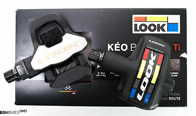 LOOK KEO BLADE 2 Ti Proteam Road Pedals (Pair), Clip Tension Level 16 New !