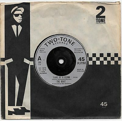 """THE BEAT - TEARS OF A CLOWN 7"""" 45 EX VINYL UK 2 Two Tone Ranking Full Stop"""