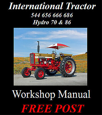 International 544 656 666 686 Hydro 70 & 86 Workshop Service Repair Manual On Cd