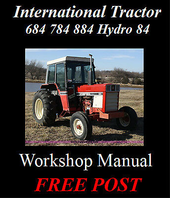 International 684 784 884 Hydro 84 Tractor Workshop Service Repair Manual On Cd